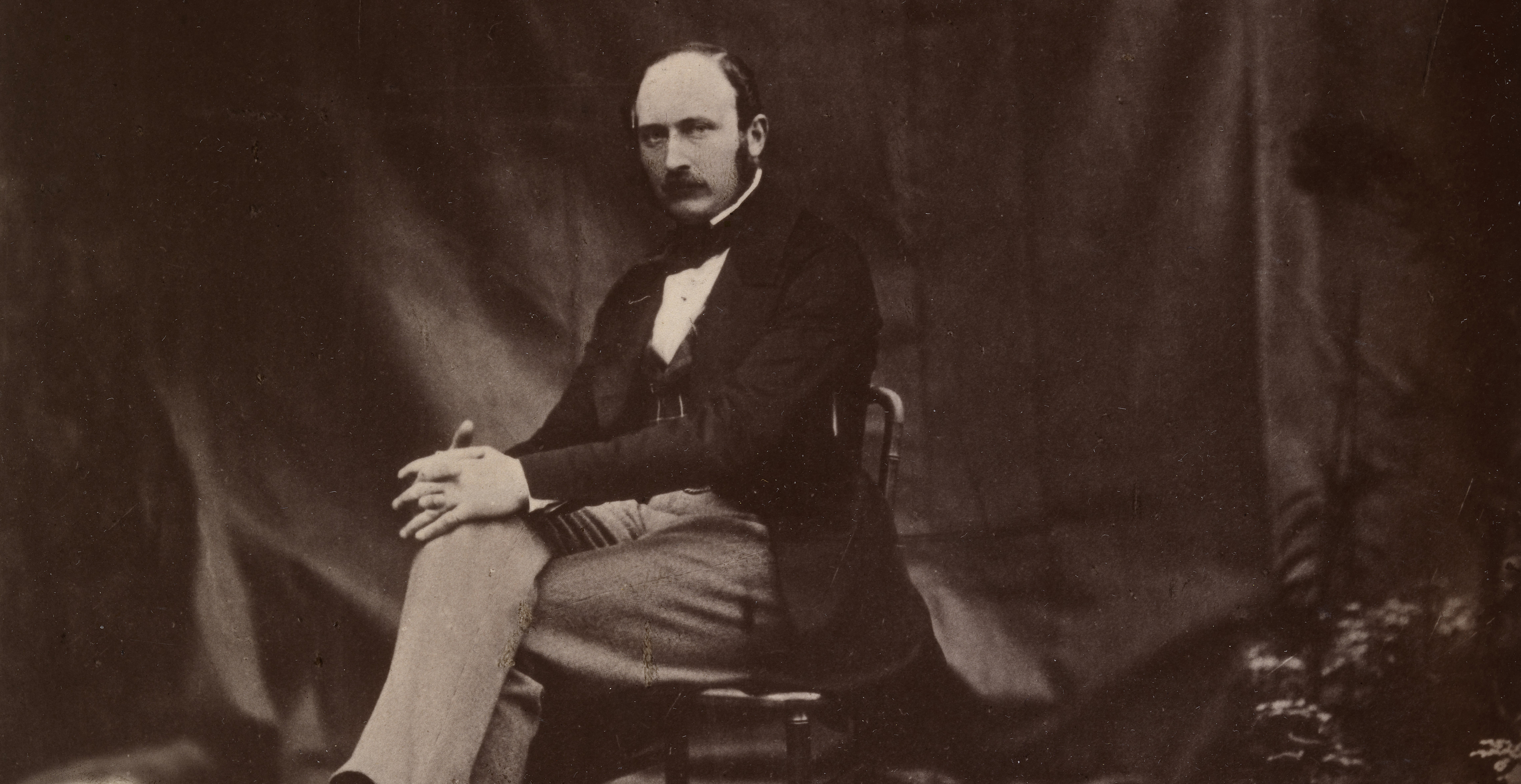 Portrait photograph of Prince Albert seated on a chair