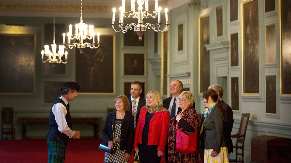 Group visit to Palace of Holyroodhouse