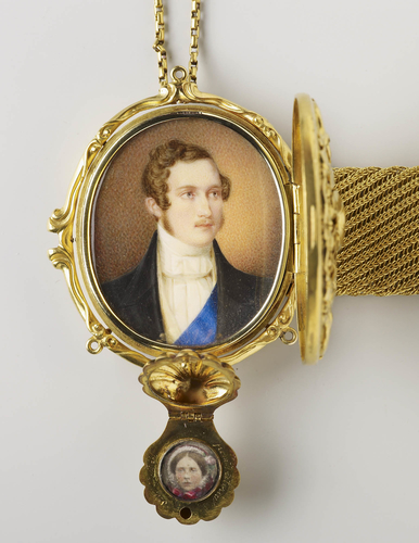 Bracelet with a miniature of Prince Albert and a photograph of Victoria, Princess Royal