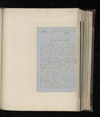Letter from Gustav Waagen to Dr. Ernst Becker sending a retouched photograph of a Raphael work in the Berlin Picture Gallery and promising a copy of the Raphael engraving discovered in the Dusseldorf