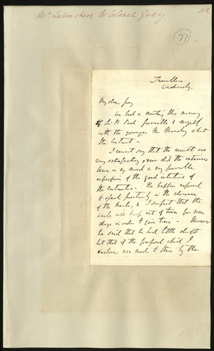 [May 1850] Henry Labouchere to Colonel Grey