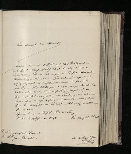 Letter from Dr. Ignaz von Olfers, the General Director of the Royal Museums in Berlin, to the Prince Consort sending photographs of 24 Raphael drawings in the Museums' Print Room