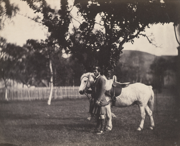Queen Victoria's Pony, Craig Liadh (died in 1855) with John Brown