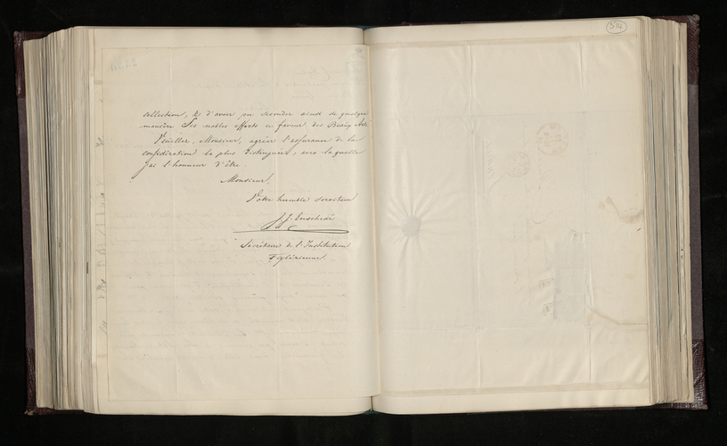 Letter from J. J. Enschede, the Secretary of the Teylerian Institution, to Charles Ruland acknowledging receipt of the photographs by Mr Tinker