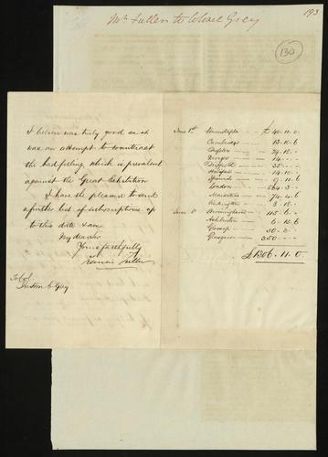 13 Jun 1850. Francis Fuller to Colonel Grey