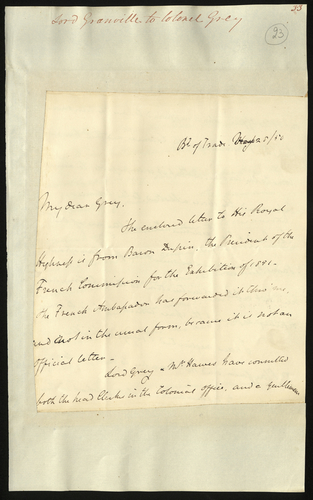 28 Mar 1850. Lord Granville to Colonel Grey
