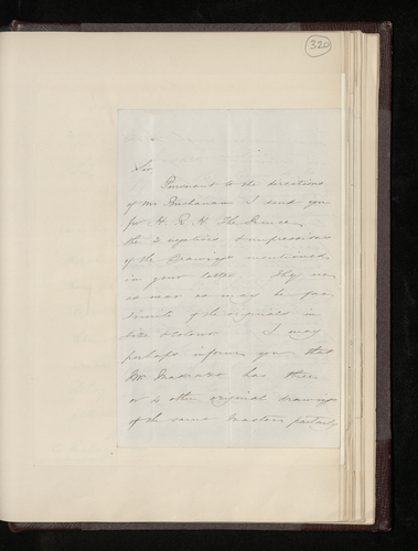 Letter from Charles Clifford to Charles Ruland sending photographs he has taken of two Raphael drawings in the possession of the former Director of the Royal Museum (the Prado)
