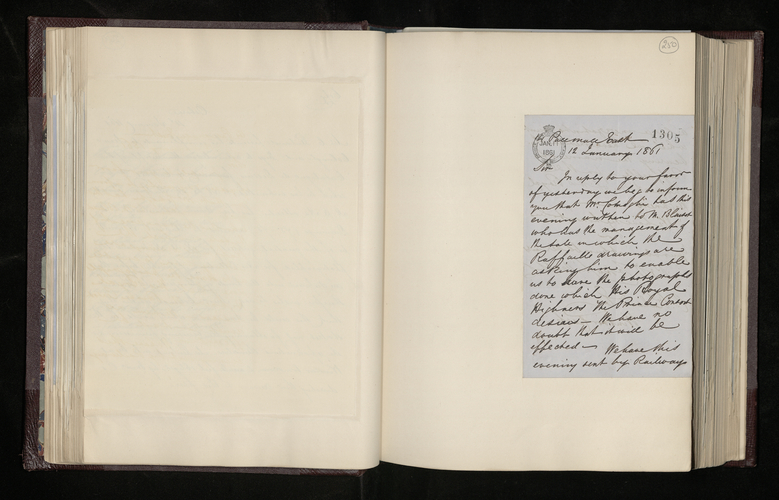 Letter from Messrs Colnaghi to Charles Ruland in reply to his letter saying that they have asked for the Raphael drawings requested by Ruland to be photographed