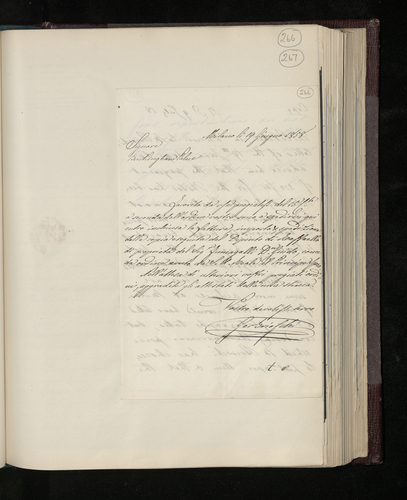 Letter from Gerolamo Brioschi in Milan sending his bill for photographing Don Guido Fumagalli's painting by Raphael for the Prince Consort