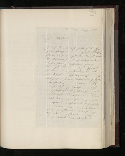 Letter from Joseph Spithover to Dr. Ernst Becker regarding a photograph which Mr Anderson has been commissioned to take in Rome for the Prince Consort, with a note of Becker's reply listing photograp