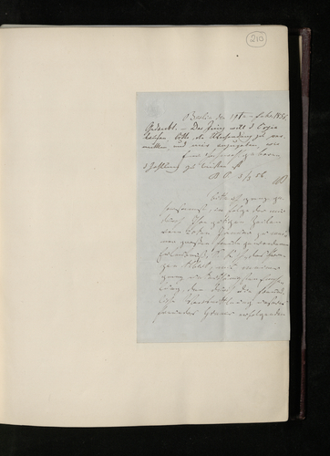 Letter from Dr. Waagen to Dr Ernst Becker expressing pleasure that Prince Albert will accept the lithograph copy of the Perugino painting he offered, and awaiting instructions regarding the painted co