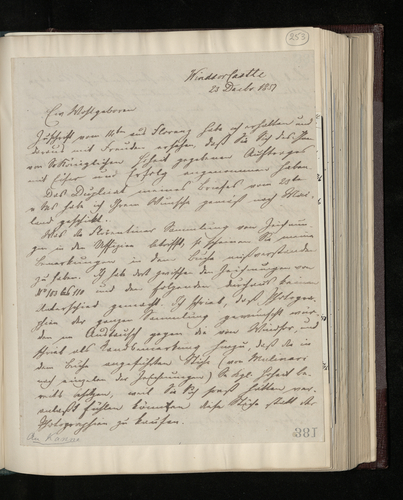 Copy letter from Dr. Ernst Becker to Joseph Kanne answering his questions about drawings to be photographed in the Uffizi Gallery and suggesting ways of persuading the Director to accept the proposed