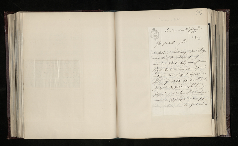 Letter from Ludwig Gruner to Charles Ruland enclosing a letter from Professor Neher in Stuttgart and commenting on the latter's offer to have a copy of his Raphael drawing made for the Prince Consort