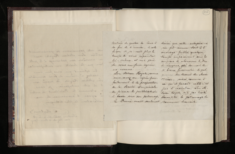 Copy letter from Charles Ruland to Dr. Kuhlmann, President of the Society of Sciences and Arts at Lille, informing him of the Prince Consort's reservations regarding the facsimiles of drawings in the