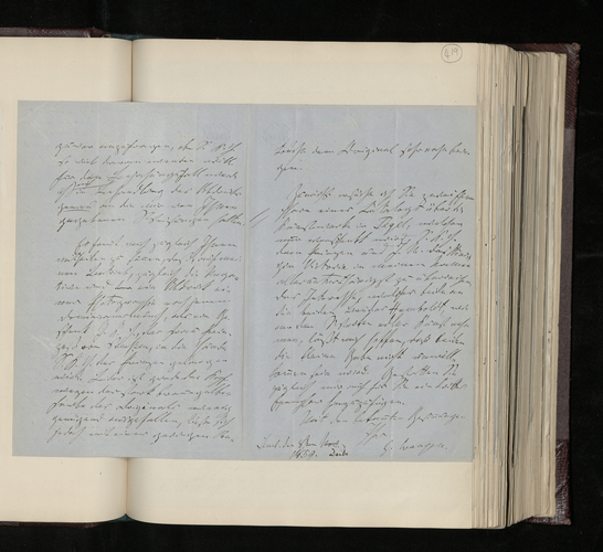 Letter from Gustav Waagen to Dr. Ernst Becker about retouching the photograph of the Raphael Madonna and Child and sending a photograph of the Princess of Prussia's picture of a monk and catalogues o