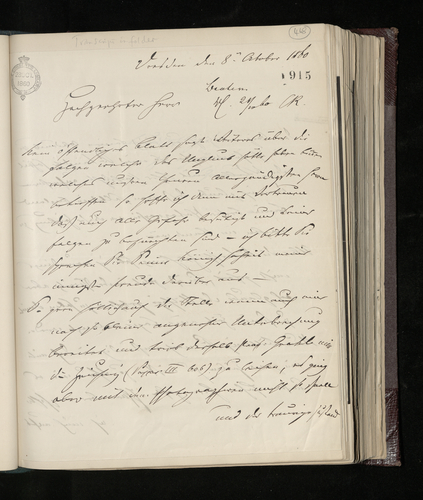 Letter from Ludwig Gruner to Charles Ruland concerning a Raphael drawing belonging to Professor Grahl which he has had photographed, and asking for news of the Prince Consort after his accident