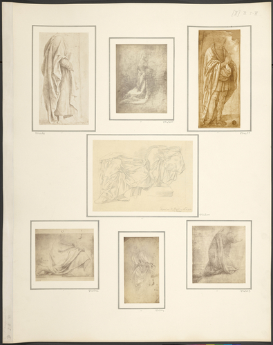 A study of drapery for a standing figure