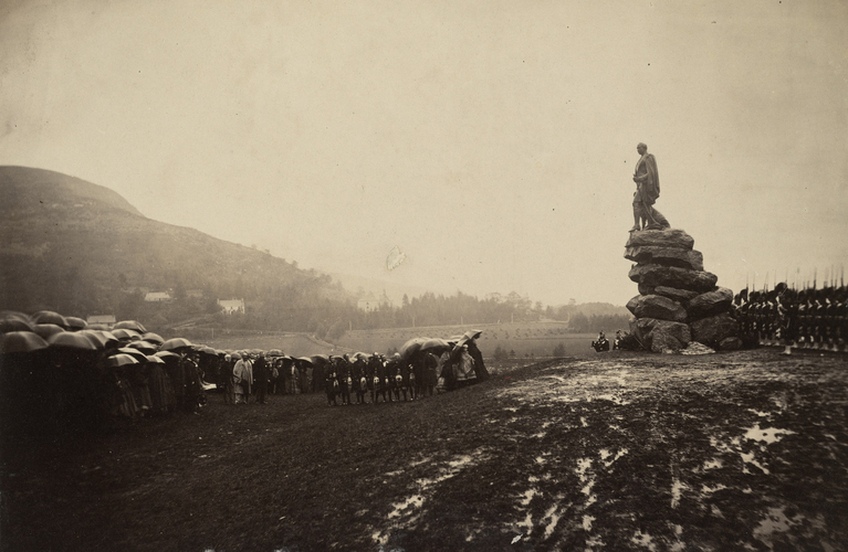 Unveiling of the statue to the Prince Consort, Balmoral estate