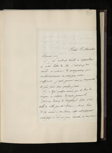 Letter from Benjamin Delessert to Dr. Ernst Becker concerning the Duc de Luynes's Raphael project and recommending a former print dealer in Paris who could assist in the search for engravings after R