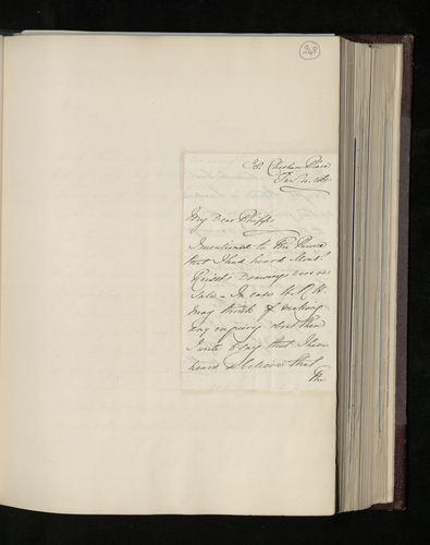 Incomplete letter from William Russell to Sir Charles Phipps concerning the sale of M. Reiset's collection of drawings, including some attributed to Raphael