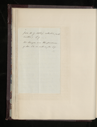 Note by Eastlake listing three drawings [by Raphael] included in the Esdaile sale on 18 June 1840, enclosed with letter dated 16 February 1857