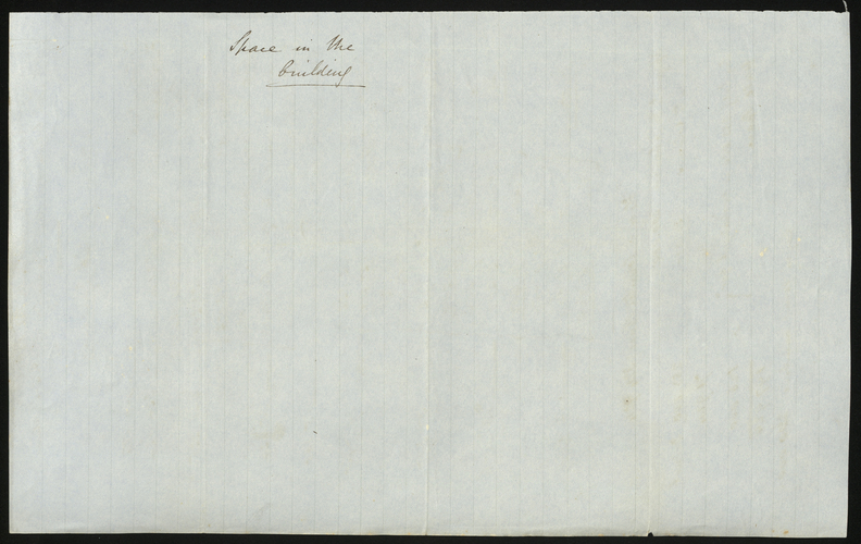 [Jun 1850] Report on Space in the Building
