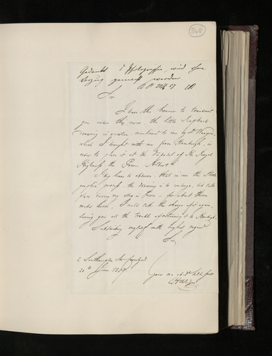 Letter from E. Harzen to Sir Charles Eastlake sending a drawing by Raphael from his collection, to be photographed for the Prince Consort