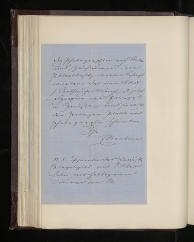 Letter from Ernst Stockmar to Dr. Ernst Becker reporting on lack of progress photographing the Raphael drawings
