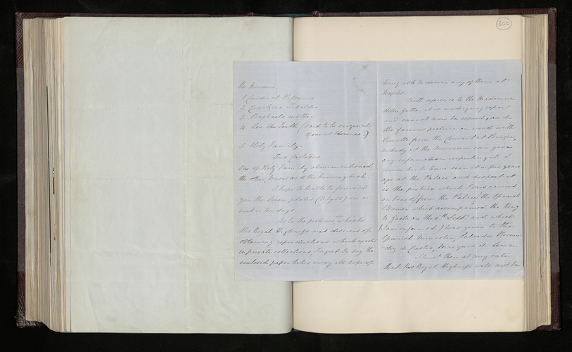 Letter from Augustus Craven to Sir Charles Phipps stating that the photographer he has found is about to start work at the Museum in Naples