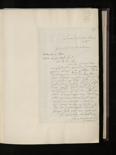Letter from Dr. Waagen to Dr. Ernst Becker enclosing a letter from Caen regarding the price of the Perugino copy which Prince Albert wishes to purchase