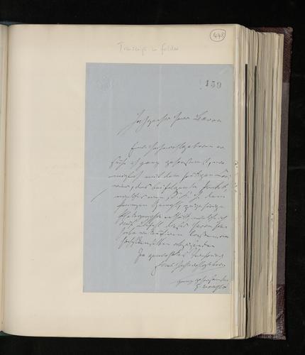 Letter from Dr. Gustav Waagen to Ernst von Stockmar