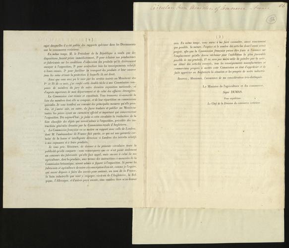 26 - 27 Mar 1850. French circulars