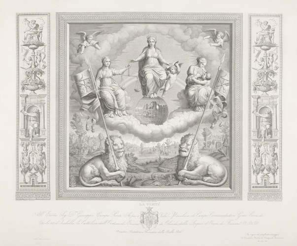 Allegory of Religion flanked by Justice and Charity