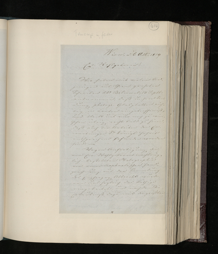 Letter from Artaria & Co. to Dr. Ernst Becker announcing that the drawing ('Astronomy') from the Archduke Albrecht's collection has been photographed and the glass plate sent to the Prince Consort