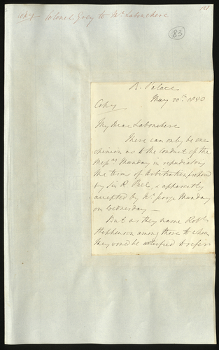 20 May 1850. Colonel Grey to Henry Labouchere