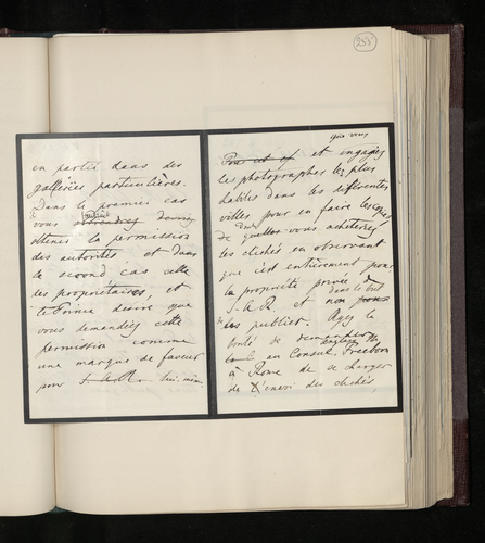Draft letter from Dr. . Ernst Becker to Joseph Kanne instructing him to obtain, during his visit to Italy, photographs of pictures and drawings by Raphael
