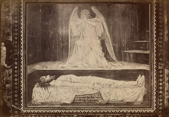 'The Entombment' tablet on the wall of the Albert Memorial Chapel, Windsor Castle