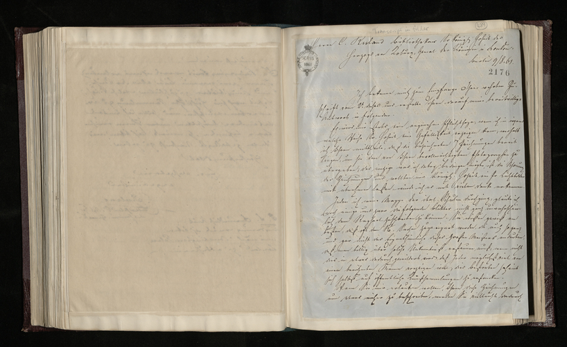 Letter from G. Heubel to Ruland giving permission for the Raphael drawings mentioned by Ruland to be photographed and listing 5 other drawings which he considers to be by Raphael
