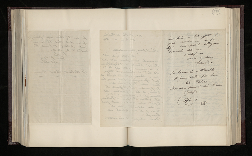 Copy letter from William Lake Price to Giuseppe de Fabris, Curator of the Pontifical Museums, asking permission to photograph Raphael's Transfiguration and Domenichino's San Girolamo