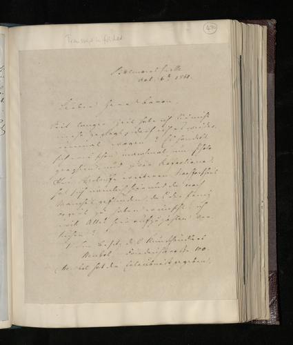 Copy letter from Charles Ruland to Ernst Stockmar asking him to arrange for Raphael drawings and paintings in Berlin to be photographed for the Prince Consort's collection
