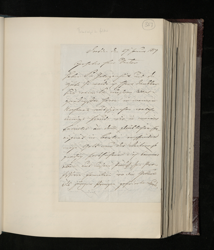 Letter from Ludwig Gruner to Dr. Ernst Becker regarding the photographing of two privately-owned Raphael drawings in Dresden