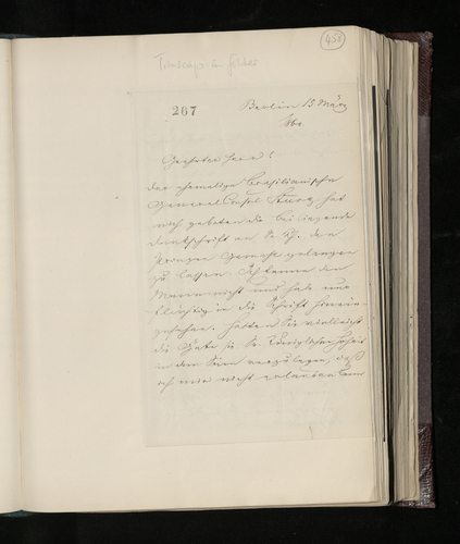 Letter from Ernst Stockmar to Charles Ruland announcing the dispatch of glass plate negatives and prints of two drawings attributed to Raphael in the Savigny collection; unrelated subjects also mentio