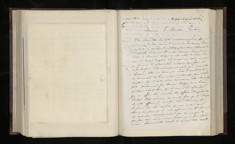 Letter from Alphonse Bernoud to Dr. Ernst Becker asking him to arrange permission from the British Consul in Naples to take photographs of pictures by Raphael in Naples