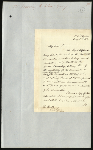 3 May 1850. Edgar Bowring to Colonel Grey