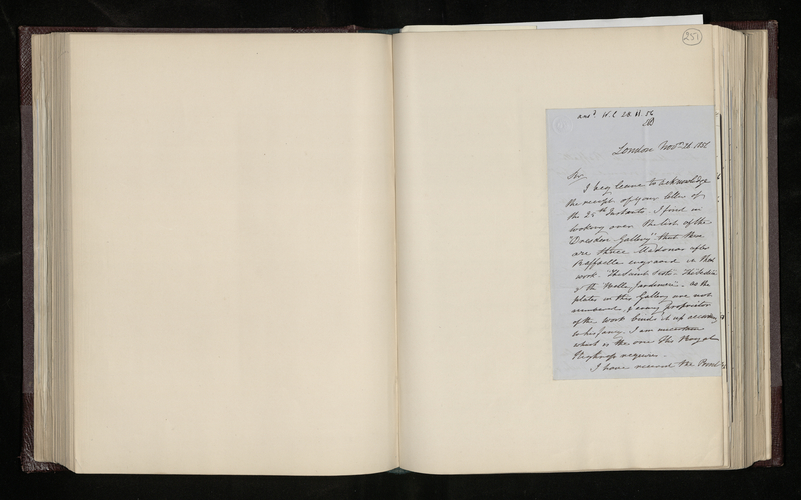 Letter from Dominic Colnaghi to Dr. Ernst Becker in reply to his enquiries about a Raphael Madonna in Dresden and about the 'Madre de Raffaelle' picture