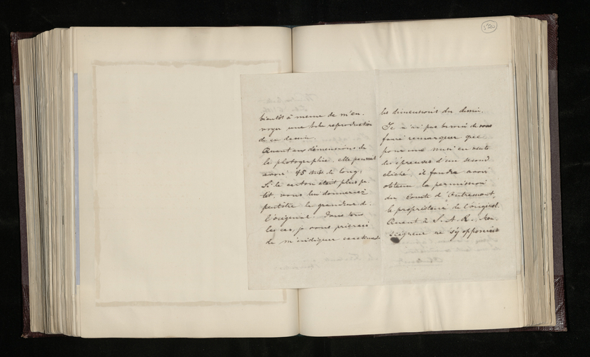 Copy letter from Charles Ruland to Edmond Fierlants giving him the required dimensions of the photograph to be made of Comte Charles d'Oultremont's Raphael cartoon and answering other questions