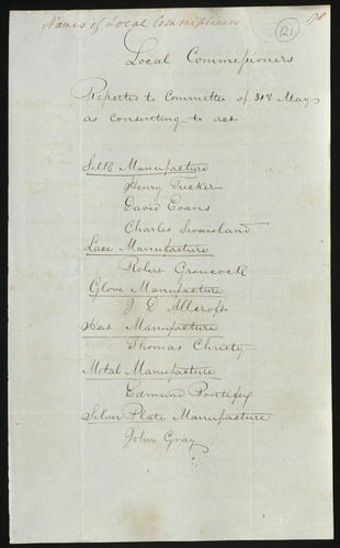 31 May 1850. List of Local Commissioners