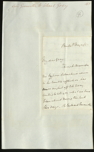 29 May 1850. Lord Granville to Colonel Grey
