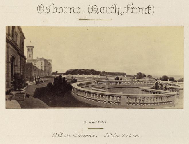 'Osborne, (North Front)'; The Upper Terrace at Osborne