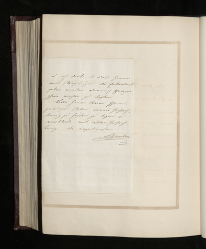 Letter from an unidentified writer in Brussels to Baron [?Stockmar or Bunsen] about pictures attributed to Raphael in St Petersburg; mentioning two other Raphael pictures, one in Brussels and another